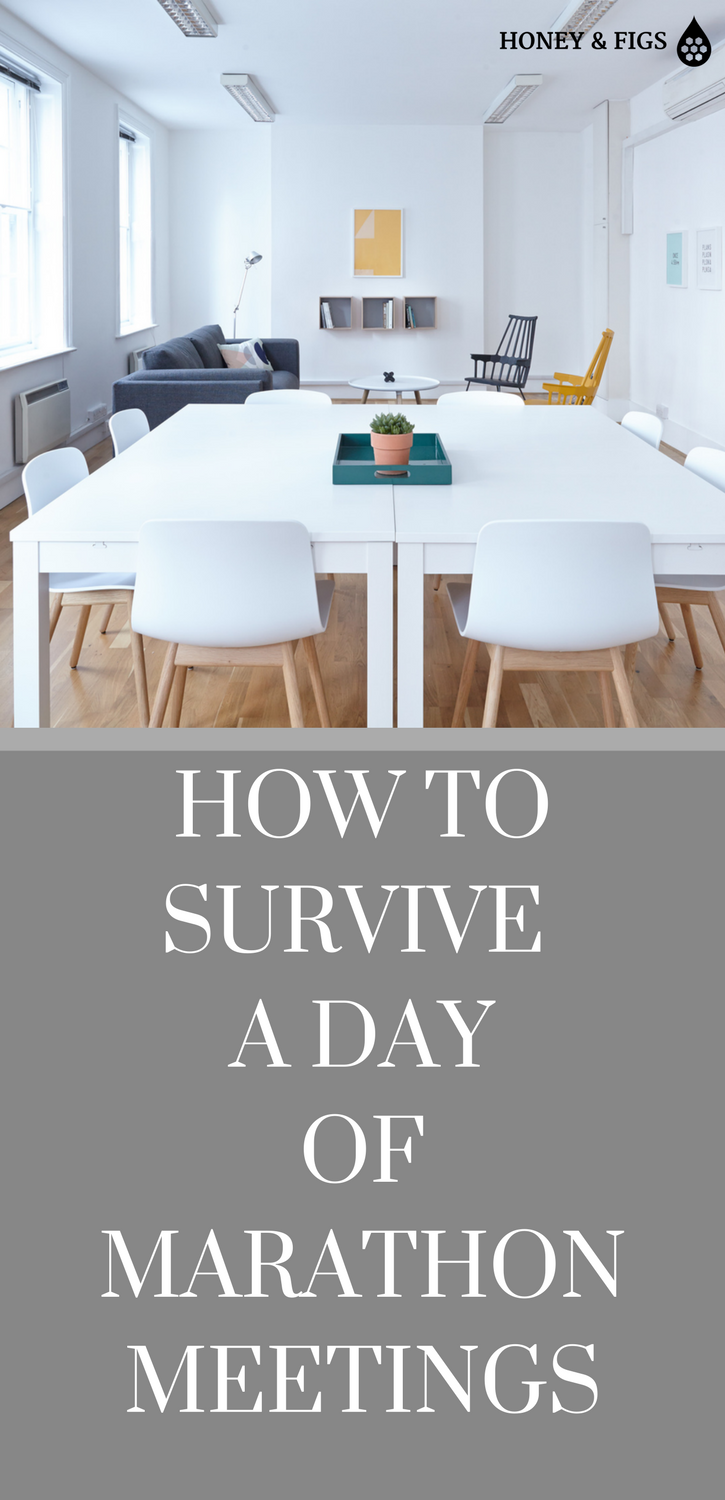 10 Ways to Plan a Productive and Meaningful Day Despite Back to Back Meetings // How To Survive A Day of Marathon Meetings